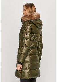 Oliwkowa kurtka Calvin Klein z kapturem, na co dzień, casualowa
