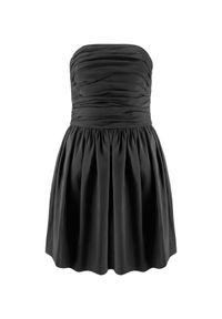 LA MANIA - Czarna sukienka bez ramiączek Taos. Kolor: czarny. Materiał: jedwab. Długość rękawa: bez ramiączek. Długość: mini #5