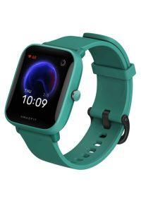 Zielony zegarek AMAZFIT smartwatch, sportowy