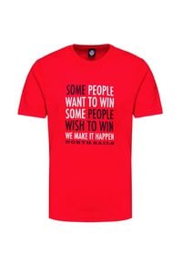 North Sails - T-shirt NORTH SAILS. Materiał: prążkowany, bawełna. Wzór: aplikacja, nadruk