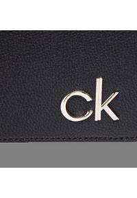 Calvin Klein - Torebka CALVIN KLEIN - Ew Flap Xbody K60K607922 BAX. Kolor: czarny. Materiał: skórzane