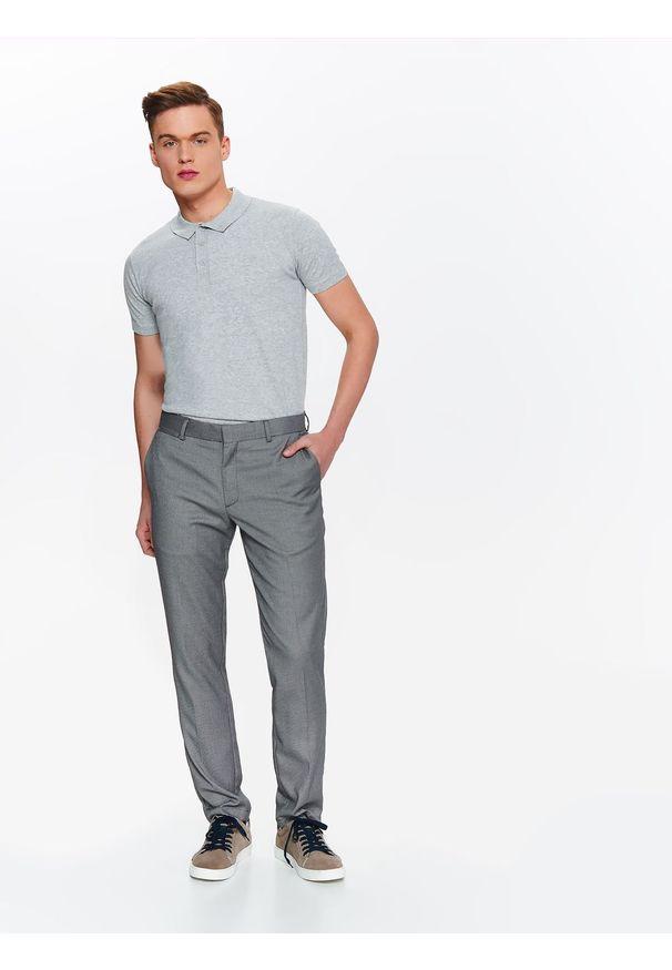 Szare spodnie TOP SECRET na lato, eleganckie