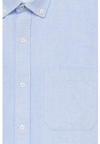 Niebieska koszula Mango Man z długim rękawem, button down, długa #10