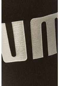 Czarne legginsy Puma z nadrukiem, z podwyższonym stanem