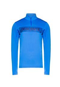 Niebieski golf Descente w kolorowe wzory, krótki