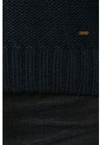 Niebieski sweter Pepe Jeans z długim rękawem, na co dzień, casualowy