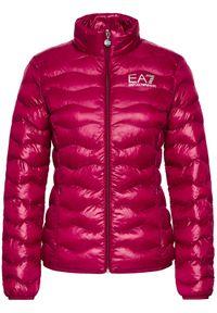 Różowa kurtka puchowa EA7 Emporio Armani