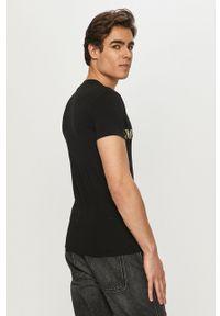 Emporio Armani Underwear - Emporio Armani - T-shirt. Kolor: czarny. Materiał: dzianina. Wzór: nadruk