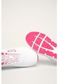 Białe buty sportowe EA7 Emporio Armani z cholewką, na sznurówki