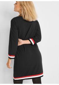 Sukienka dresowa bonprix czarny. Kolor: czarny. Materiał: dresówka