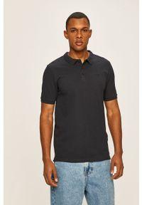 Niebieska koszulka polo Only & Sons krótka, gładkie, polo, casualowa