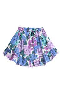 ZIMMERMANN KIDS - Spódnica z kwiatowym wzorem 2-8 lat. Kolor: wielokolorowy, różowy, fioletowy. Materiał: bawełna. Wzór: kwiaty. Sezon: lato
