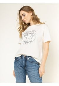 Pepe Jeans T-Shirt Charlotte PL504345 Beżowy Regular Fit. Kolor: beżowy