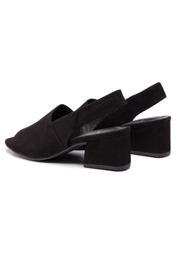 Czarne sandały vagabond casualowe, na co dzień