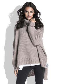 Sweter asymetryczny Fobya z golfem