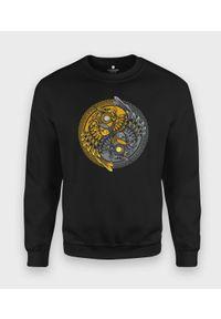 MegaKoszulki - Bluza klasyczna Sowy Yin Yang. Styl: klasyczny