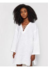 Seafolly Sukienka letnia Harbour 54352-CU Biały Relaxed Fit. Kolor: biały. Sezon: lato