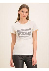 Biały t-shirt Just Cavalli