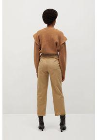Spodnie materiałowe mango casualowe, na co dzień, z podwyższonym stanem