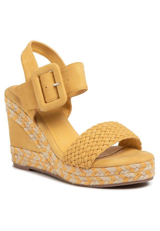Żółte sandały Xti na co dzień, casualowe
