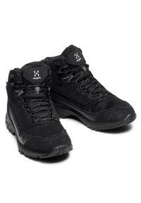 Haglöfs - Trekkingi HAGLÖFS - Skuta Mid Proof Eco Men 498080 True Black. Kolor: czarny. Materiał: skóra, skóra ekologiczna, zamsz, materiał. Szerokość cholewki: normalna. Sport: turystyka piesza