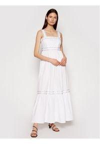 TwinSet Sukienka letnia 211TT2480 Biały Regular Fit. Kolor: biały. Sezon: lato