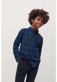 Niebieska koszula Mango Kids casualowa, długa, na co dzień