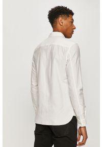 Biała koszula AllSaints z klasycznym kołnierzykiem, na co dzień