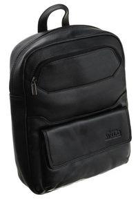 ALWAYS WILD - Plecak czarny Always Wild 999-NDM-2142 BLACK. Kolor: czarny. Materiał: skóra