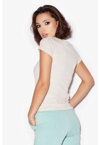 Cardio Bunny - T-shirt bawełniany ALI. Kolor: szary. Materiał: bawełna. Wzór: nadruk