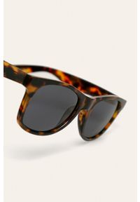 Brązowe okulary przeciwsłoneczne Vans owalne