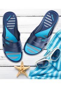 LANO - Klapki damskie basenowe Lano KL-3-3060-9 Niebieskie. Okazja: na plażę. Kolor: niebieski. Materiał: guma. Obcas: na obcasie. Wysokość obcasa: niski