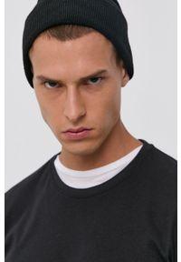 !SOLID - T-shirt bawełniany. Kolor: czarny. Materiał: bawełna