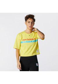 New Balance WT11508FTL. Materiał: jersey, dzianina, materiał. Wzór: aplikacja