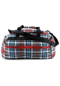 Target Docelowa torba podróżna, W kratkę, czerwono-niebiesko-szary. Kolor: niebieski, czerwony, wielokolorowy, szary. Wzór: kratka
