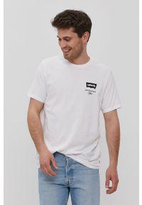 Levi's® - Levi's - T-shirt. Okazja: na co dzień, na spotkanie biznesowe. Kolor: biały. Materiał: dzianina. Wzór: nadruk. Styl: biznesowy, casual