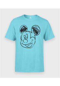 MegaKoszulki - Koszulka męska Rysowana Myszka Mickey. Materiał: bawełna. Wzór: motyw z bajki