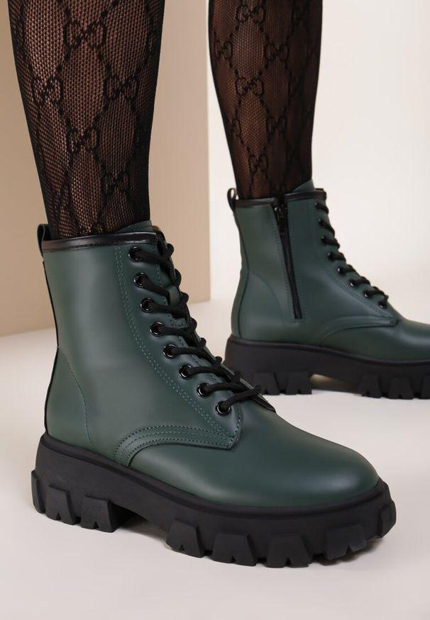 Zielone płaskie botki Renee