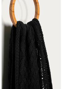 Czarny szalik Stefanel klasyczny