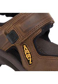 Brązowe sandały trekkingowe keen na lato, z otwartym noskiem