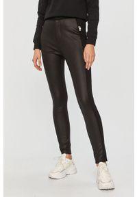Czarne spodnie materiałowe Calvin Klein Jeans z podwyższonym stanem