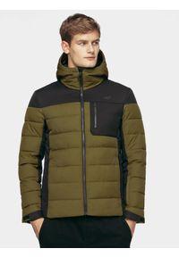 Brązowa kurtka puchowa 4f na zimę