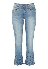 Niebieskie jeansy Cream z haftami