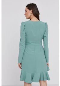 Answear Lab - Sukienka. Kolor: turkusowy. Typ sukienki: rozkloszowane. Styl: wakacyjny