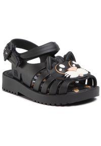 Czarne sandały melissa na lato, na co dzień, z aplikacjami, casualowe