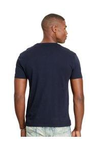 Ralph Lauren - RALPH LAUREN - Granatowy t-shirt. Kolor: niebieski. Materiał: bawełna. Wzór: haft. Styl: klasyczny #2