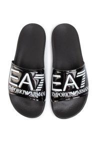 Czarne klapki EA7 Emporio Armani