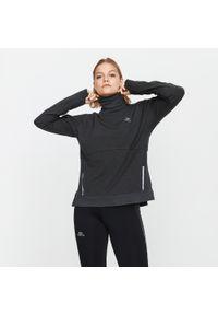 KALENJI - Koszulka do biegania z długim rękawem damska Kalenji Run Dry+ Feel. Kolor: szary. Materiał: materiał, skóra, bawełna, włókno. Długość rękawa: długi rękaw. Długość: długie. Sport: bieganie