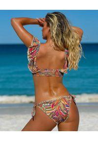 DEL MAAR - Dół od bikini Hakana. Kolor: beżowy. Wzór: haft