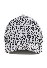 Guess - Czapka z daszkiem GUESS - Allie Animalier AGALL1 CO213 WHITE. Kolor: biały. Materiał: bawełna, materiał